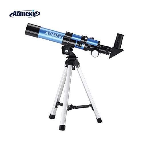 Aomekie Telescopio Astronomico para Niños 50/360 con Trípode Maleta y Ocular Erecto...