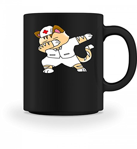 Dabbing Cat Katze Nurse Krankenschwester Krankenpfleger - Schlichtes Und Witziges Design - Tasse