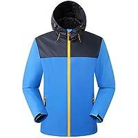Eono Essentials Men's Waterproof Jacket with Fixed Hood Windbreaker Breathable Lightweight Jacket