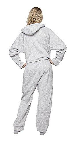 Forever Lazy Unisex Schwergewicht für Erwachsene Einteiler Grau - Grau