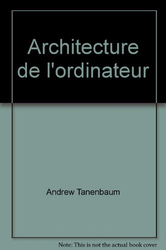 Architecture de l'ordinateur