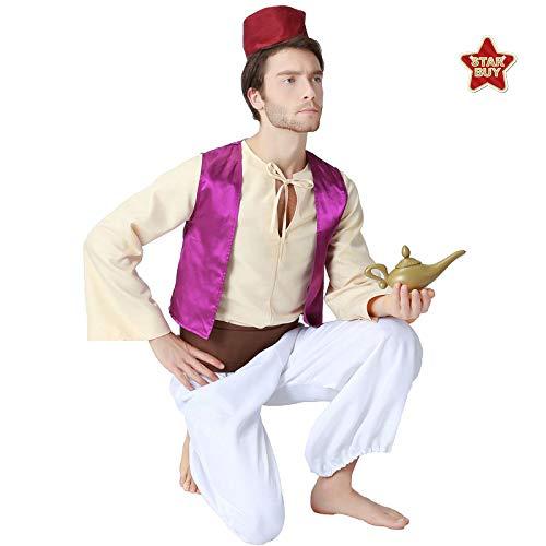 COSOER Arabischer Prinz Cosplay Kostüm Halloween Maskerade Party Kleidung Für Erwachsene Männer,Color-S (Arabische Kostüm Name)