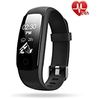 Activity Tracker, Lintelek IP67 Waterproof Fitness Tracker Watch with Heart Rate Monitor, Step Counter Watch Stopwatch with 14 Sports Mode/ Connected GPS / Relax, Bluetooth Pedometer for Android phone and iOS