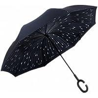 Manfâ Paraguas invertido Innovador, Paraguas invertido Doble de la Capa, Paraguas Reverso de los