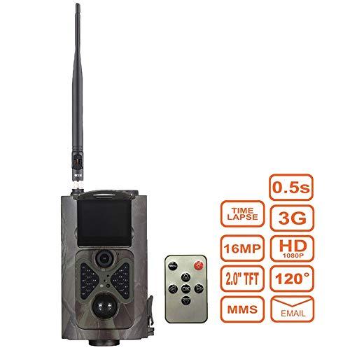 ZMM Caméra de Trail 12 MP 1080p Caméra de Chasse 3G Rouge MMS SMTP/SMS Grand Angle