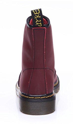 uBeauty - Bottes Femme - Martin Bottes - Boots Flattie Sport - Chaussures Classiques - Bottines À Lacets Rose