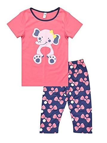 Little Hand Pyjama Enfant Filles Animaux Rose Éléphant Chaud Taille 2 3 4 5 6 7 Ans