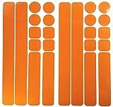 UvV 24 Stück Reflektoren selbstklebend Kinderwagen Helm Gehhilfe Rollator Aufkleber Leuchtfolie (Orange)