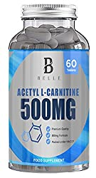 Belle® Acetyl L-carnitine 500mg Supplement - Help Maintain Healthy Brain Function & Promote Heart Health - Promotes Healthy Mood - 60 Capsules