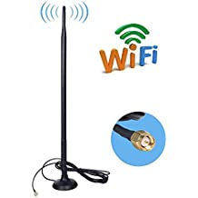 SMA 4G Antenna, 9DBI GSM High Gain 4G LTE Antenna Wifi Signal Booster Amplifier Modem Adapter Network Reception Long Range Antenna With SMA Female Connector Cable for Mobile Hotspot(9DBI SMA Connector) Urant