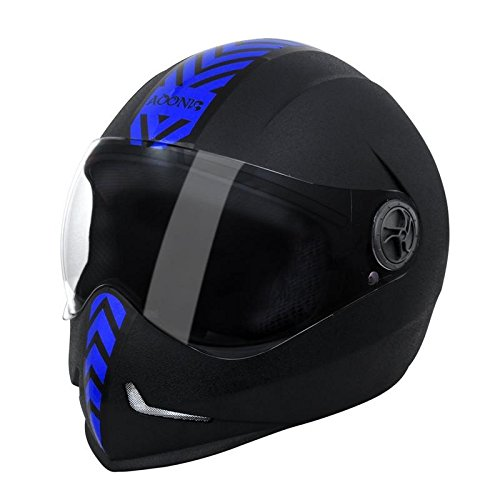 Steelbird Adonis Dashing Full Face Helmet(Blue)  available at amazon for Rs.915