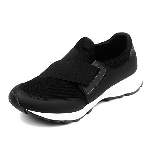 Asian Shoes SUPER-13 Black Men's Sports Shoes 9 UK/Indian