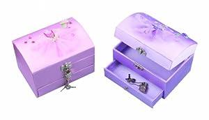 Great Gizmos Pink Poppy Bailarina Pecho Joyería Caja-Lila