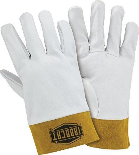 Split Rindleder Handschuhe (West Chester 6140 genarbtem Leder Premium TIG Kidskin Handschuh Split-Rindleder Cuff 5.08 cm, Arbeit, 0,6 mm dick, klein, Pearl (1 Paar) von West Chester Betriebe)
