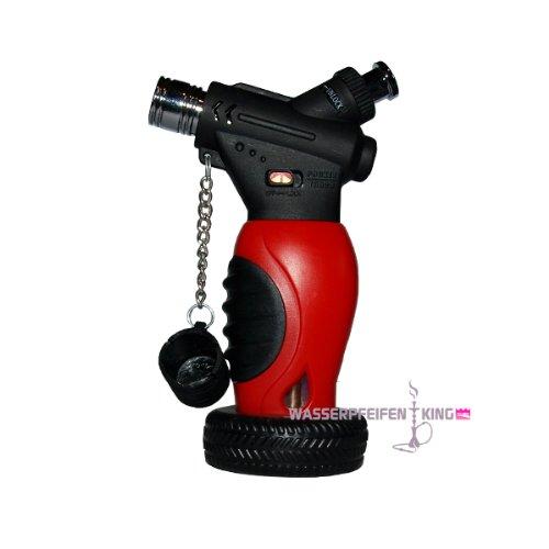 ShiSha mini Sturm Feuerzeug - Bunsenbrenner Gas Brenner - Flambiergerät - rot
