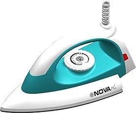 Nova Plus Amaze NI-20 1100-Watt Dry Iron (White/Turquoise)