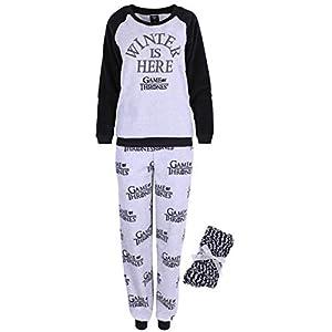 Pijama Gris y Negro + Calcetines Juego de Tronos X-Large 4