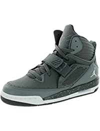 Nike Jordan Jordan Flight 97 Bg Gris foncé / blanc / Cool Grey Basketball Shoe 4 Us