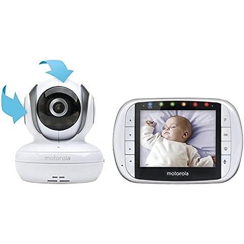 Motorola MBP36S video-monitor para bebés - Vigilabebé (Batería, Color blanco, CMOS, IR, Digital, 2.4 -