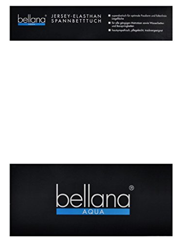 bellana® AQUA Jersey Multifunktions-Spannbettlaken für Wasserbetten in Normal- und Übergrößen, 90-100-120x200-220 cm in weiss (Wasserbett Matratze Queen-size)