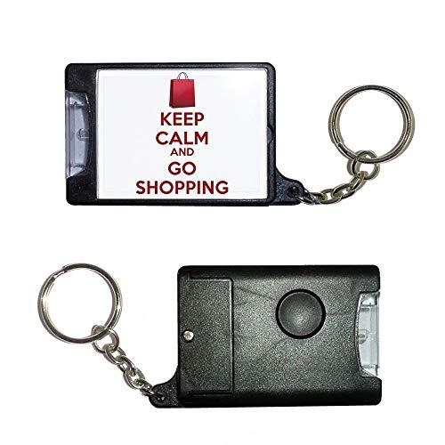 Keep Calm and Go Shopping - Schwarze Taschenlampe