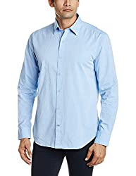 Proline Mens Casual Shirt (8907007299128_PV10601_Medium_Mid Blue)