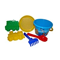 Polesie 3543 252, Sieve, Shovel No.2, Rake No. 2, 2 Forms (Truck and Loco) -Sets: Medium Decorated Bucket, Multi Colour