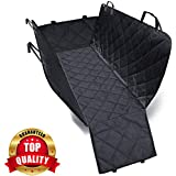 PetVogue Waterproof Seat Cover Car-Scratch Proof and Backing and Hammock, Quilted, Padded, Durable Pet Black