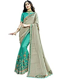 Lajree Designer Georgette And Silk Saree With Blouse Piece(Nitya-7904)