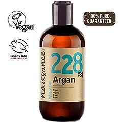 Idea Regalo - Naissance Olio di Argan del Marocco 250ml - Puro e Naturale, Antiossidante, Vegan, Senza Esano, Senza OGM - Idratante Naturale per Viso, Capelli, Pelle, Barba e Cuticole