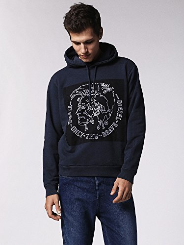 Diesel Herren Sweatshirt S-Albert Blau (81E - Midnight / Blue 0Iaeg)