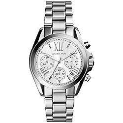 Michael Kors MK6174 - Reloj de cuarzo con correa de acero inoxidable para mujer, color plateado