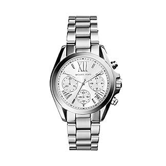 Michael Kors MK6174 – Reloj de cuarzo con correa de acero inoxidable para mujer, color plateado