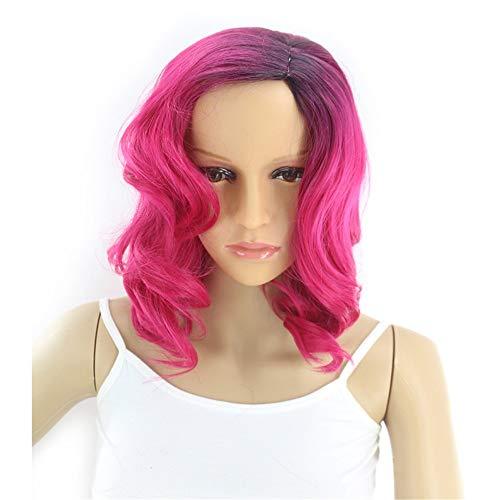 GUOJUANJUANJF Frauen Perücken Kurzes lockiges Haar Chemiefaser Hochtemperaturseide Perücke Kopfbedeckung (Machen, Zu Halloween Leicht Behandelt)