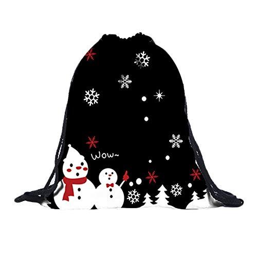(3D Digital Print Bouquet Pocket Rucksack Sporttaschen Gym Sack Turnbeutel Sportbeutel Weihnachten Christmas Unisex Wasserdicht FüR Fitness Non-Woven Taschen Kordelzug Frauen Tasche(E,30cmx1cmx39cm))