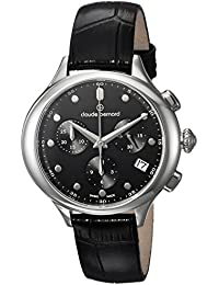 Claude Bernard Women's 'Code Chronograph' Swiss Quartz Stainless Steel and Leather Dress Watch Color:Black (Model: 10232 3 NIN)
