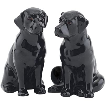 Quail Ceramics - Black Labrador Salt And Pepper Pots from Quail Ceramics