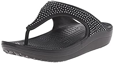 Crocs Crocs Sloane Diamante Flip Women Slipper [Shoes]_203128-001-W4