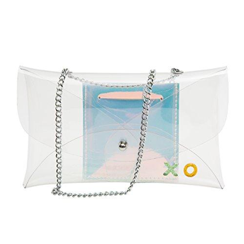 Zarapack da donna in pvc trasparente borsa crossbody borsa a tracolla con personalizzato opzione, Customized Clear Bag with Inner Bag (trasparente) - BA927 Customized Clear Bag with Inner Bag