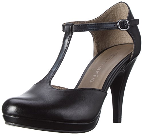 Tamaris Damen 24428 Pumps, Schwarz (Black Matt 015), 37 EU