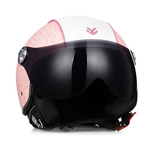 "ARMOR · AV-84 Pure ""Pinky"" (Pink) · Jet-Helm · Chopper Bobber Scooter-Helm Roller Motorrad-Helm Mofa · ECE certified · Visier ·..."