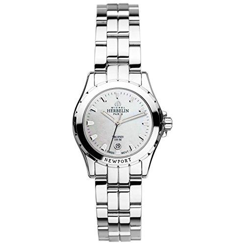Michel Herbelin Unisex Erwachsene Analog Uhr mit Edelstahl Armband 12870/B19