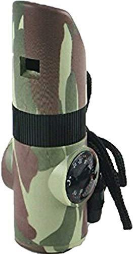 Acme Whistle Emergency Survival Rescue Whistle 7 In 1 Praktisches Multifunktionswerkzeug für Outdoor Camping Wandern Camouflage Farbe