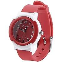 Lovelysunshiny Mode-Gelee-Uhr passt Frauen elektronische elektronische Quarz-Armbanduhr auf