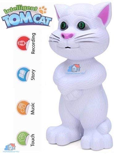 Talking Tom Cat with Touch Recording Story Rhymes & Songs (White