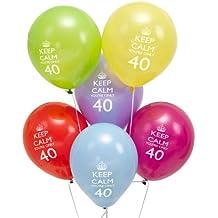 8 Palloncini Keep Calm - 40mo compleanno! - 40 Festa Di Compleanno