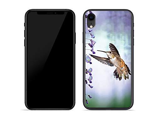 etuo Handyhülle für Apple iPhone XR - Hülle Foto Case - Pastell Kolibri - Handyhülle Schutzhülle Etui Case Cover Tasche für Handy (Kolibri Foto)