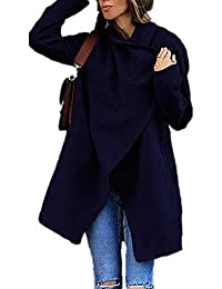 DOTBUY Femme Manteau Cardigan, Manteaux Chaud Casual Blouson Tops Mode  Veste Jacket Manches Longues Outwear a529d4732d29