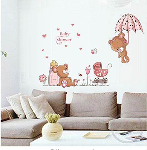 l 3D Aufkleber Niedlichen Bären Wandaufkleber Kinderzimmer Kinderzimmer Wohnkultur Baby Bären Dusche Klebstoff Für Kinderzimmer ()