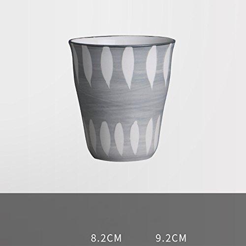 ik Geschirr Keine Tasse Personalisierte Pastoralen Stil Milch Trinken Tasse Suppe Restaurant Teetasse Handbemalte Tasse,Streifen & Grün,260ml (Personalisierte Tassen Trinken)